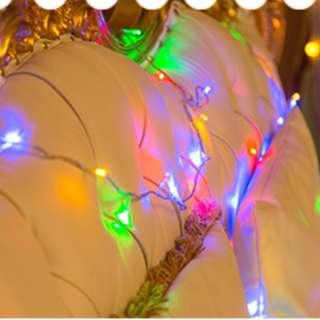 LED 彩色系滿天星燈串 (10米長)