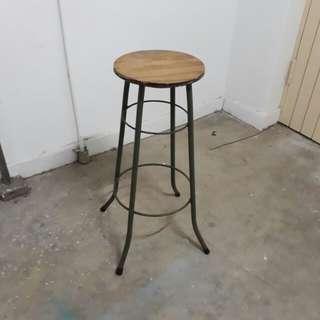 vintage high stool