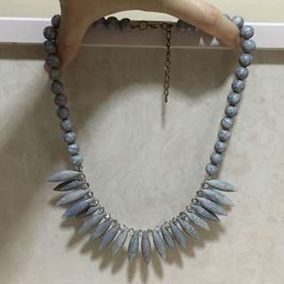BN Grey Spikes Necklace
