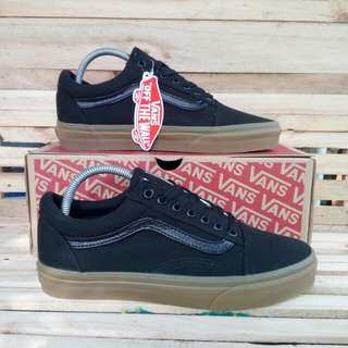 Vans Oldskool Canvas Black Light Gum BNIB Original