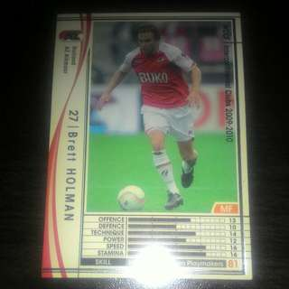 FOOTBALL CARD BRETT HOLMAN