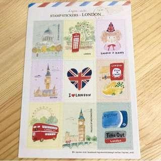 英國手繪風貼紙 England deco stickers
