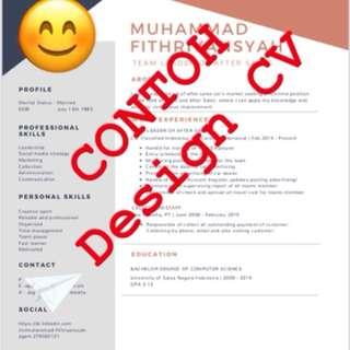 Jasa Pembuatan Design Professional CV