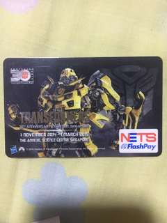 Transformer (Bumberbee)Ezlink and Nets FlashPay Card