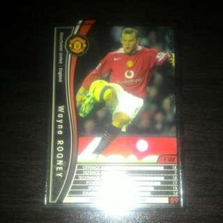 FOOTBALL CARD WAYNE ROONEY 2005