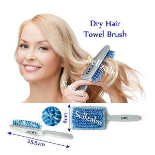 Towel Brush Drying Hair Fast Dry Comb Blue Colour Sellzabo After Shampoo Use Washing Heads