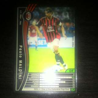 FOOTBALL CARD MALDINI 2005