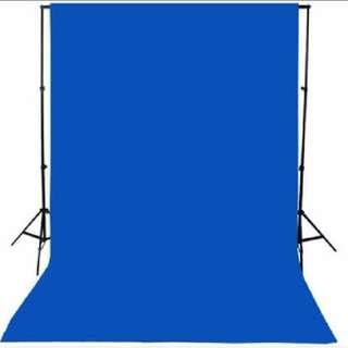 (For rental) Backdrop stand with blue and green screen