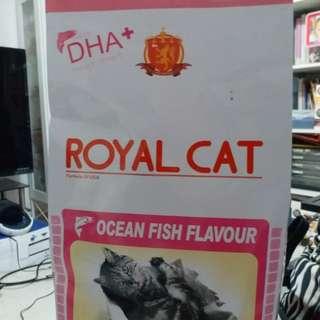 Cat food net weight 10bl per packet