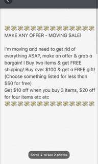 Big sale free gifts
