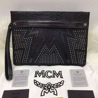 MCM Stark Cyber Pouch With Wrislet - Authentic