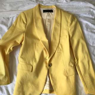 Zara yellow women's outer jacket