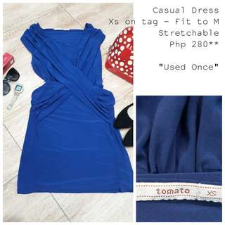 Royal Blue Casual Dress