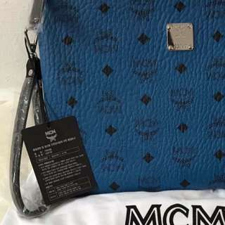 MCM Stark Pouch With Wrislet - Authentic