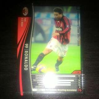 FOOTBALL CARD RONALDO 2007