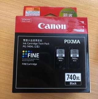 全新 Canon 原廠黑色墨水 PG-740XL 套裝