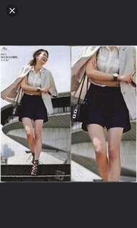 日本品牌coco deal 最新款 超顯大長腿顯瘦西裝短褲(100%new連吊牌)