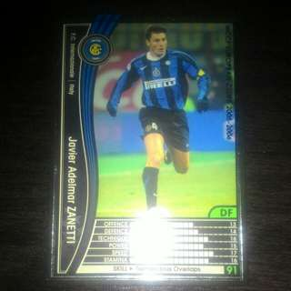 FOOTBALL CARD JAVIER ZANETTI