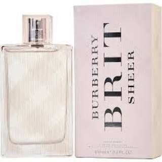 BRAND NEW FREE DELIVERY - Burberry Brit Sheer EDT 100ml Tester ORIGINAL