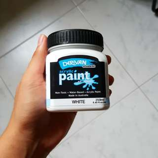 White acrylic paint - Derivan