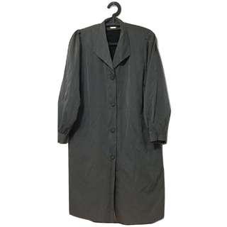 [古癮]長版大衣外套 內裡可拆 女裝 古著 復古 二手