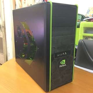 AMD 4-core +CoolerMaster X Nvidia Special Edition Case+Asrock 890FX Deluxe3 large board+Asus GTX570 DC II version +Corsair pair Ram Gaming Desktop