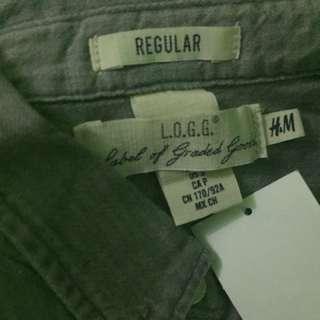 Kemeja jeans abu-abu H&M