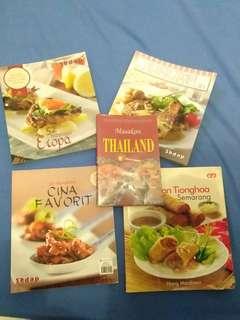 4 Buku Resep + Bonus 1 Buku Resep Masakan Thailand