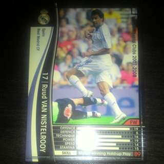 FOOTBALL CARD VAN NISTELROOY 2007