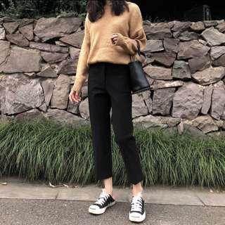 黑色直筒西裝褲
