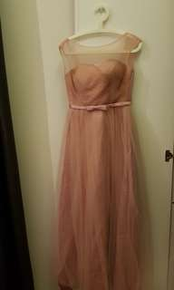 Bridesmaid Dress - nude pink