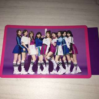 TWICE - One more time Group photocard