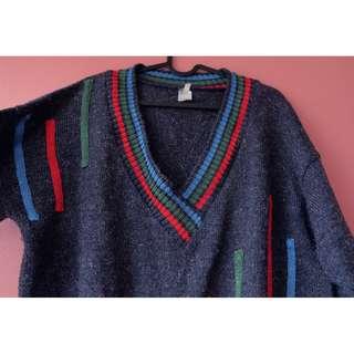 歐洲二手毛衣 古著 老品 歐美 幾何系列 002