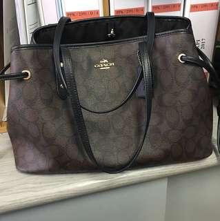Coach drawstring handbag