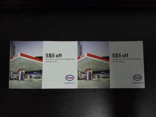 ESSO S$5.00 Voucher 2pcs for 5sgd