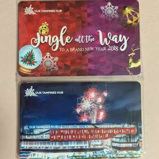 Limited Edition brand new Our Tampines Hub full Set Of 2 Commemorative ezlink Cards With Nice Folder And Set Of 2018 Lunar New Year Ang Pows With Nice Folder For $88.