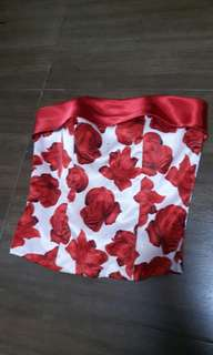 Red rose corset with padding