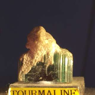 Natural Raw Green Tourmaline Miniature Specimen