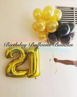 Helium Birthday balloons bundle