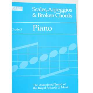 Music book :  Scales & Arpeggios ( Grade 3,4 & 5 )