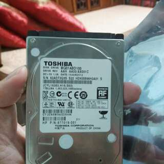"Toshiba 1tb 2.5"" hdd (cannot write)"