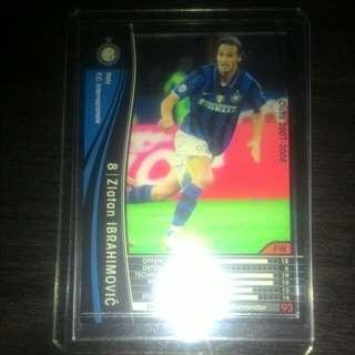 FOOTBALL CARD ZLATAN IBRAHIMOVIC 2007