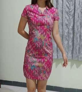 Ceongsam batik dress