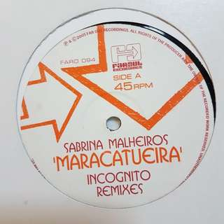 """12""""Remix》Sabrina Malheiros - Maracatueira (Incognito Remixes) vinyl record"""