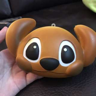 100%全新史迪仔麵包disney head bun squishy
