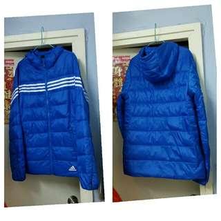 (Size:M)正版Adidas男裝羽絨外套(只穿過一次洗乾淨99%新)專門店購買