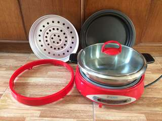 Electric Multi Cooker (Stainless Steel Pot * Non-stick Pan * Steamer)