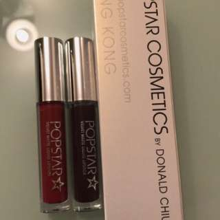 Popstar star oil and 2 liquid lipstick
