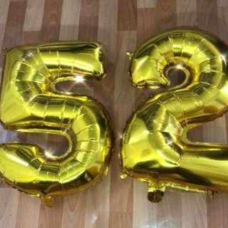 "(2 for $5) 32"" NUMBER FOIL BALLOON"