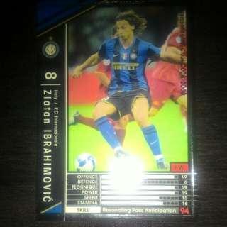 FOOTBALL CARD ZLATAN IBRAHIMOVIC 2008